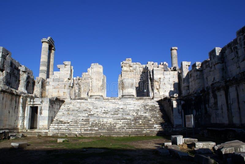 apollo tempel royaltyfria foton