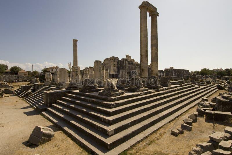 Apollo-Tempel Didim stockfotos