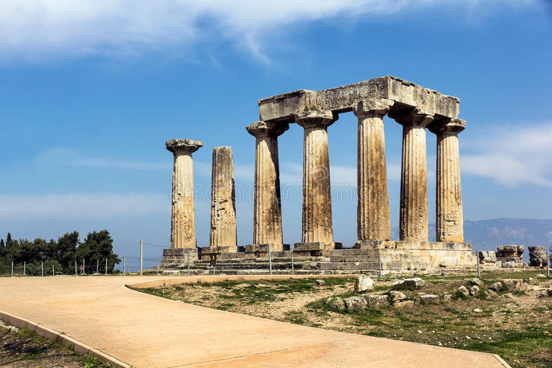 Apollo tempel Grekland arkivbilder