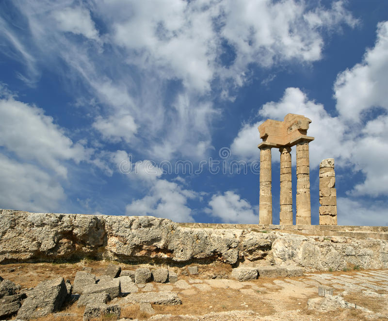 Download Apollo Temple At The Acropolis Of Rhodes, Greece Stock Image - Image: 31353325