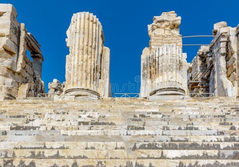 Apollo Temple chez Didyma dans Didim, Aydin, Turquie image libre de droits