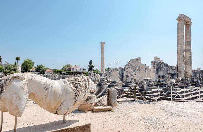 Apollo Temple a Didyma in Didim, Aydin, Turchia immagine stock