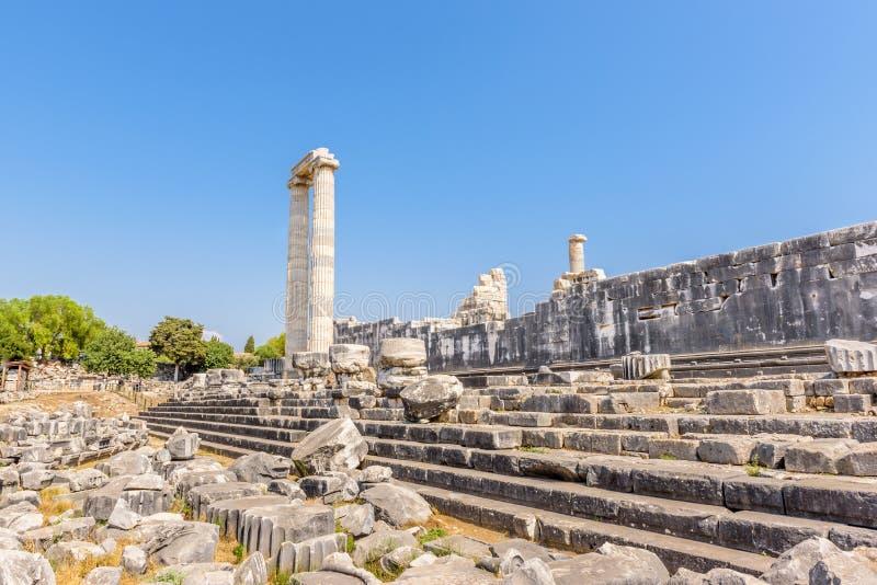 Apollo Temple em Didyma em Didim, Aydin, Turquia imagens de stock