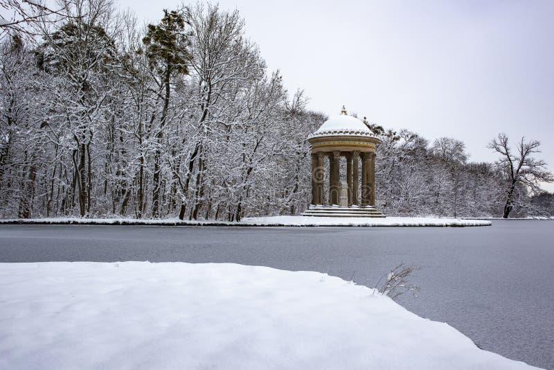 Apollo Temple at Nymphenburg castle park, Munich, Germany stock image