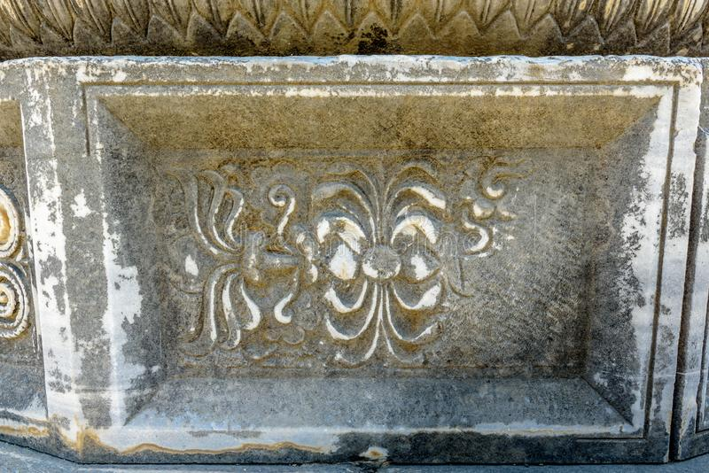 Apollo Temple på Didyma i Didim, Aydin, Turkiet royaltyfri foto