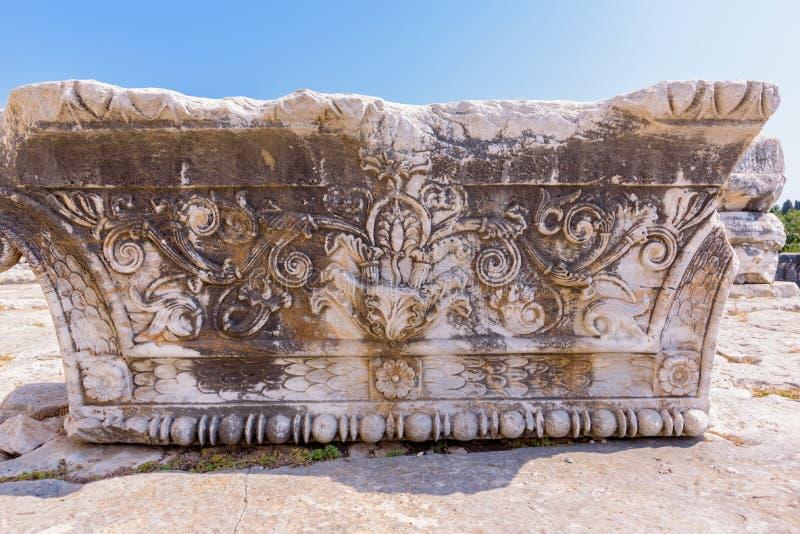 Apollo Temple på Didyma i Didim, Aydin, Turkiet arkivbild