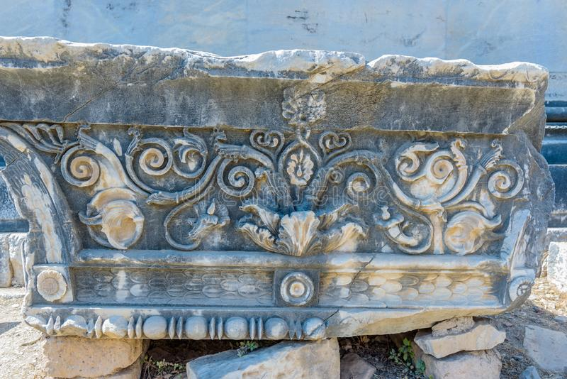 Apollo Temple på Didyma i Didim, Aydin, Turkiet fotografering för bildbyråer