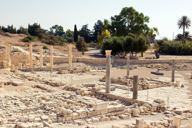 Apollo Temple and ruins at Amathus. One of the most ancient royal cities of Cyprus, on the east side of Limassol. Its age is almost 2000 years. Ruins and tree royalty free stock photo
