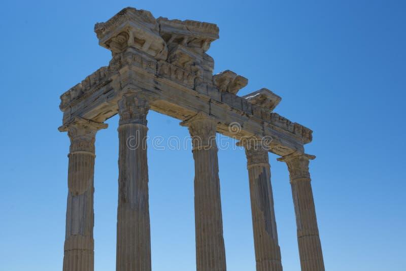Apollo Temple Side 01 stockfotos