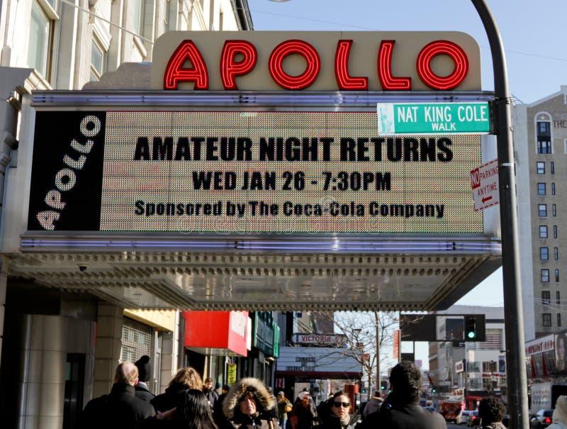 Apollo-Theater in Harlem stockfotos