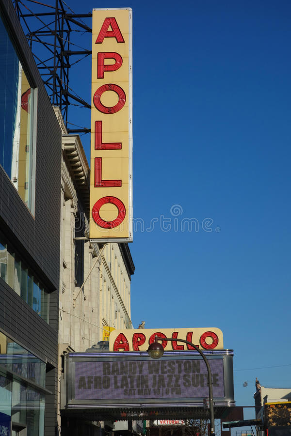 Apollo Theater. The Apollo Theater, in Harlem, a music hall that is a famous venue for African-American performers royalty free stock photography