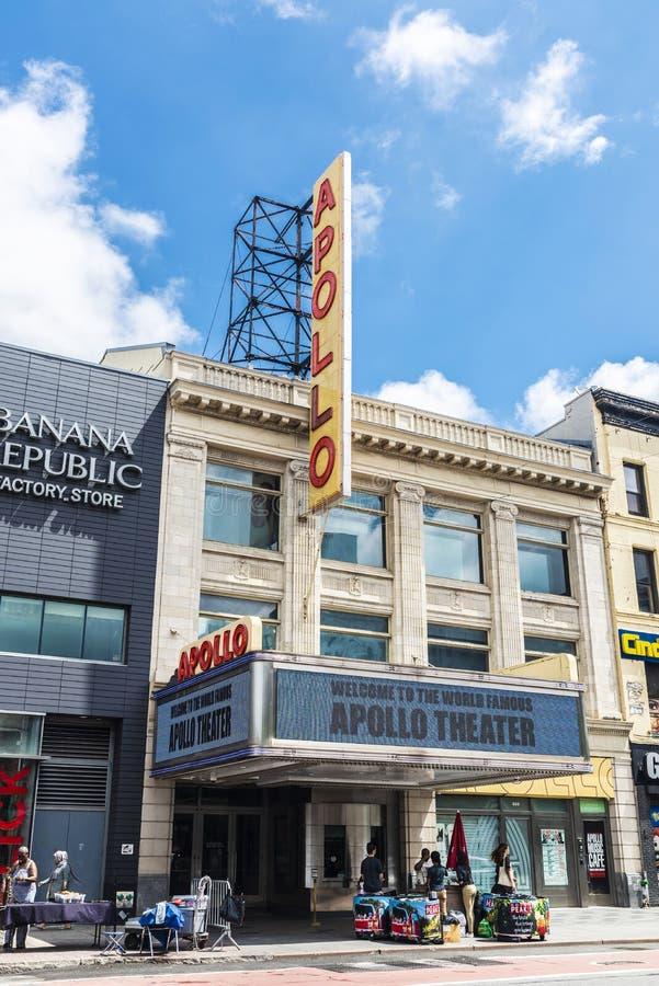 Apollo Theater i Harlem i New York City, USA royaltyfri fotografi
