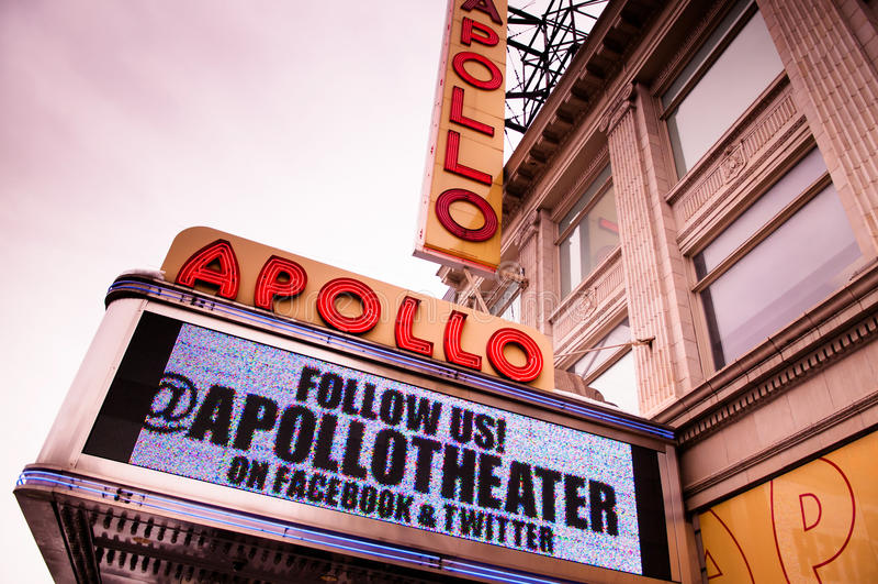Apollo Theater. The Apollo Theater is a landmark in Harlem stock image