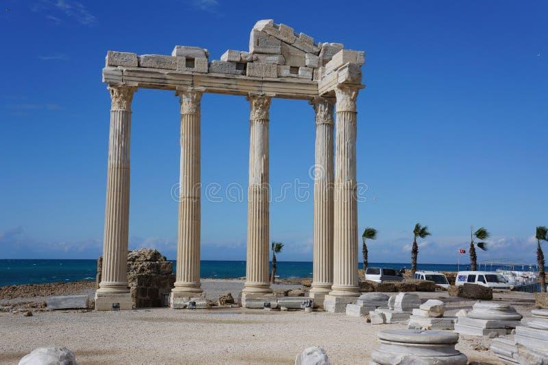 Apollon Temple in Antalya stock photos