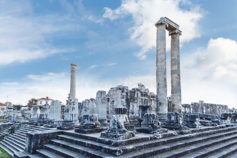 Apollon Temple View foto de archivo libre de regalías