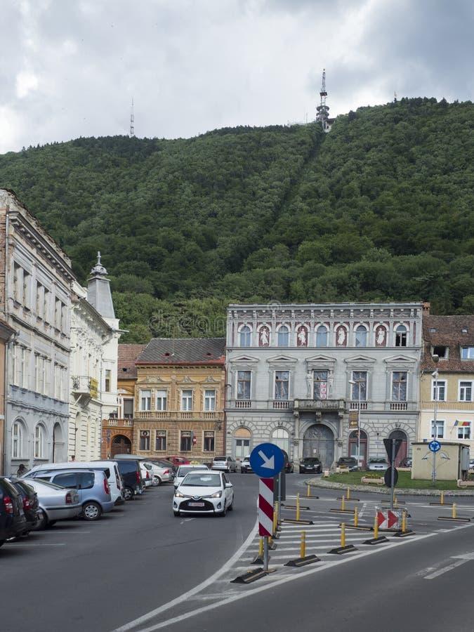 Apollonia Hirscher street in Brasov, Romania stock photo