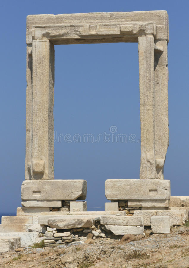Apollos Doorway - Greece royalty free stock photography