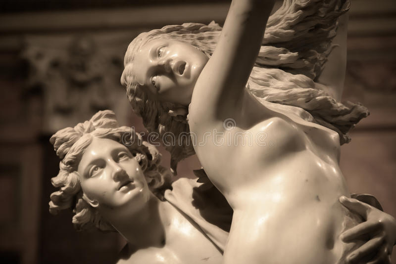 Apolo y Daphne de Gian Lorenzo Bernini imagen de archivo libre de regalías