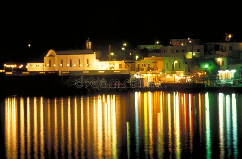 Apolonia por noche fotografía de archivo