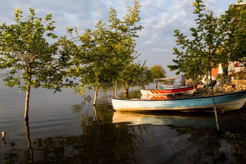 Apolyont Ulubat sjö Gölyazi royaltyfria bilder