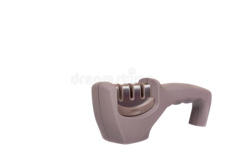 Apontador de faca cinzento com punho, utens?lio da cozinha imagem de stock royalty free