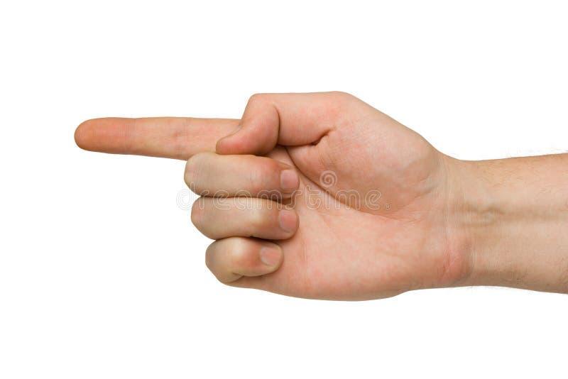 Apontando a mão imagem de stock