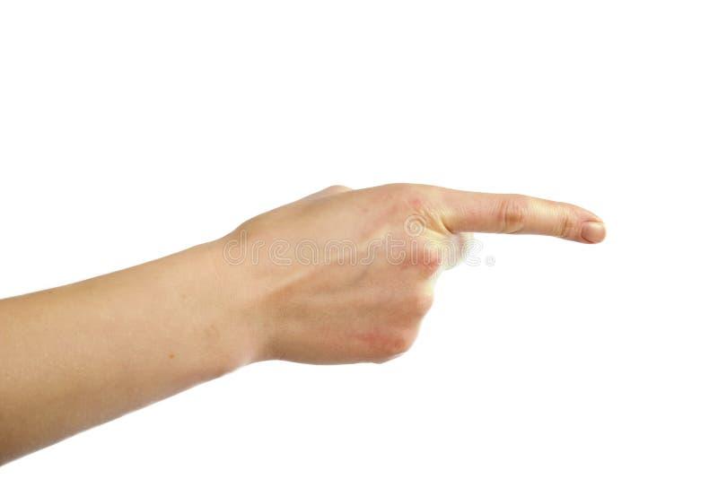Download Apontando a mão foto de stock. Imagem de isolado, dedo - 529696