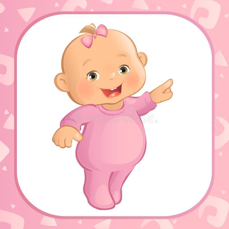 Apontando o bebê (vetor) ilustração royalty free