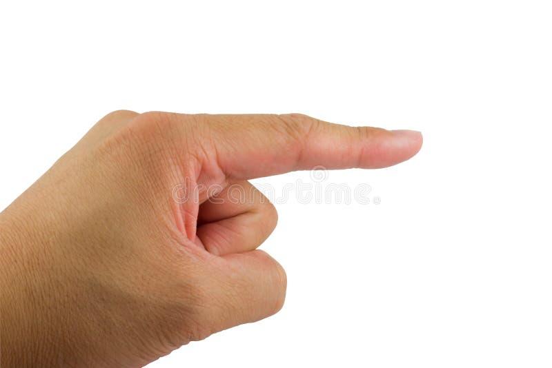 Apontando o dedo foto de stock