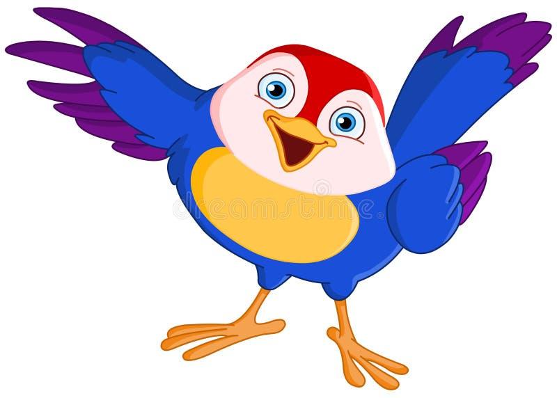 Apontando o pássaro ilustração stock