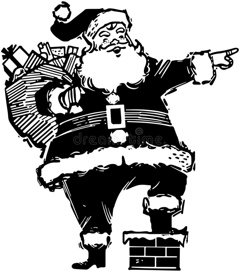 Apontando Santa ilustração stock
