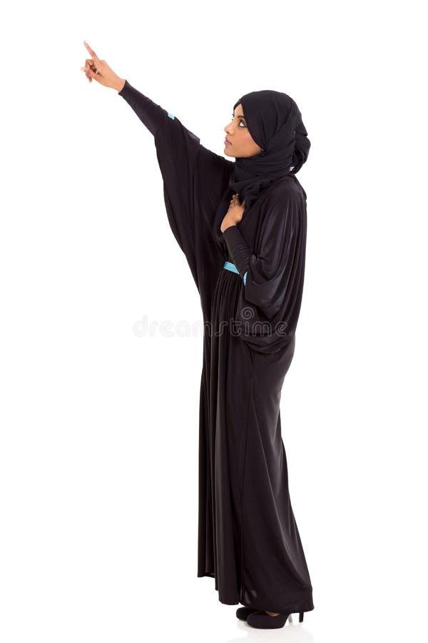 Apontar árabe da mulher fotografia de stock