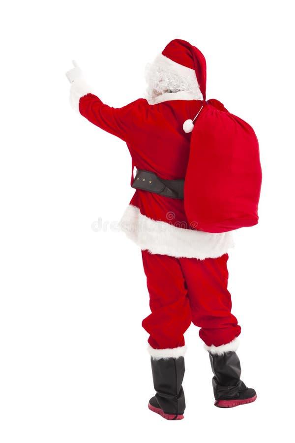 Apontar de Santa Claus e vista traseira foto de stock royalty free