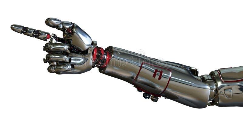 Apontar do braço do robô ilustração do vetor