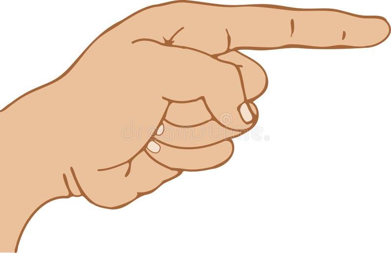 Apontar do dedo ilustração stock