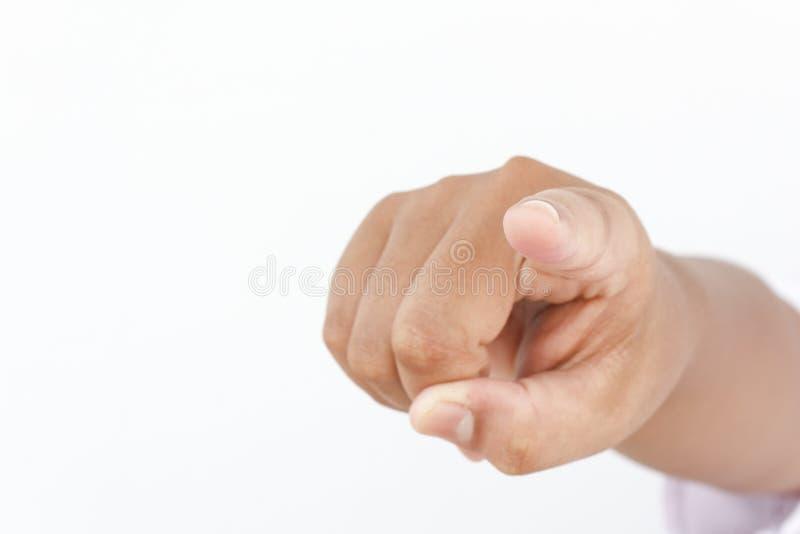 Apontar do dedo imagem de stock
