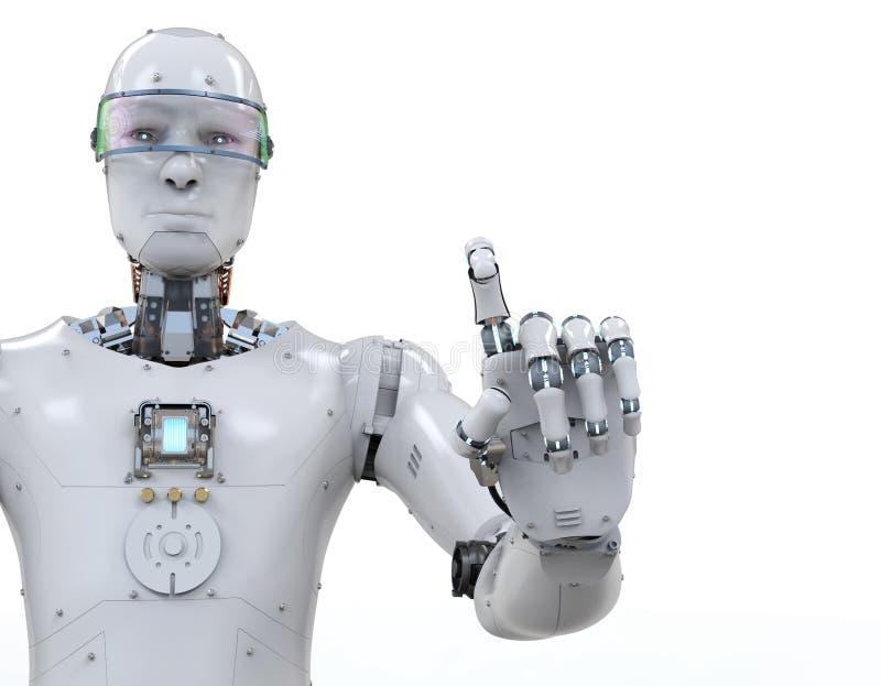 Apontar do dedo do robô ilustração do vetor