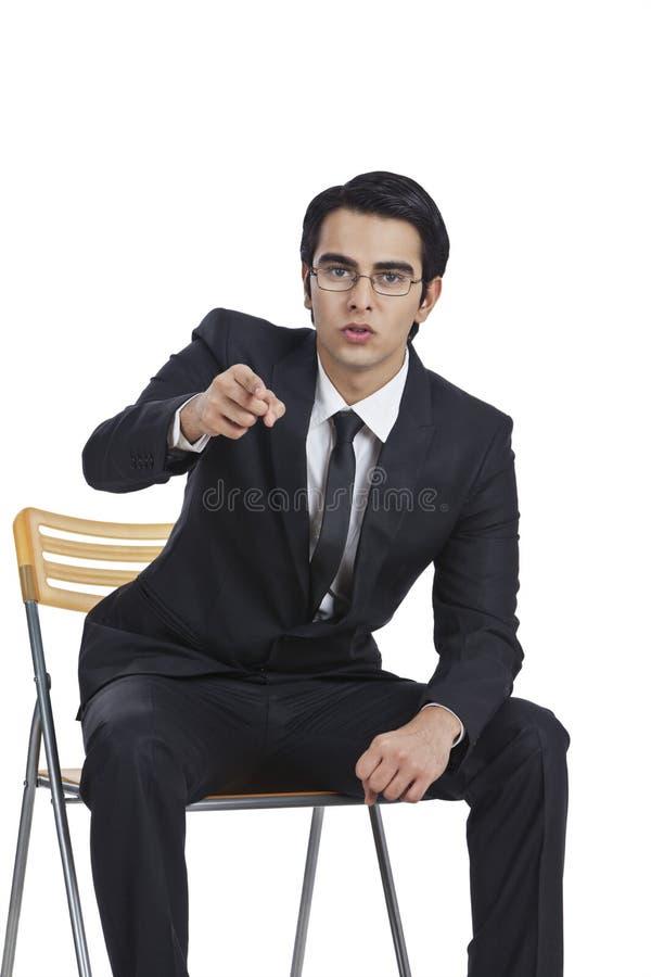 Apontar do homem de negócios imagens de stock