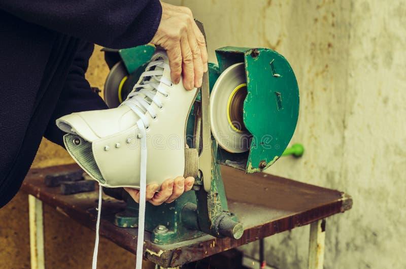 Apontar dos patins de gelo imagens de stock royalty free