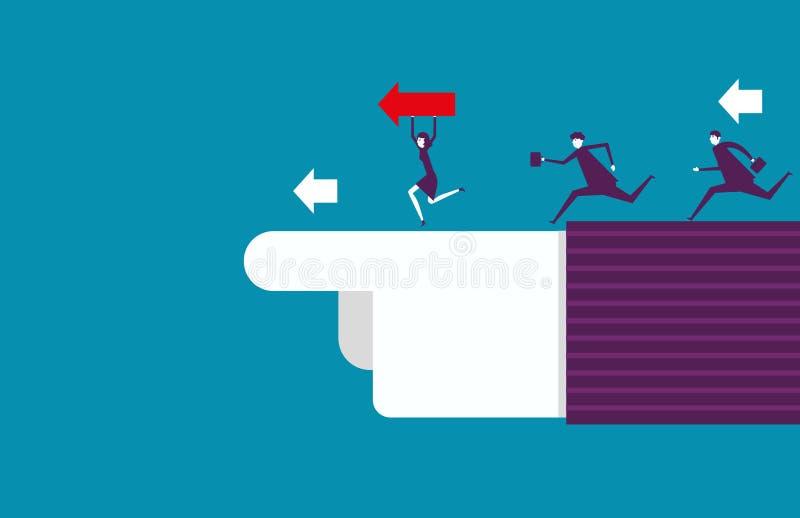 Apontar e trabalhos de equipa da liderança ao sucesso Ilustração do vetor ilustração do vetor