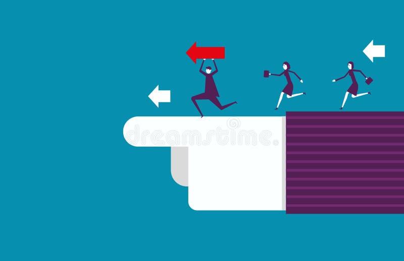 Apontar e trabalhos de equipa da liderança ao sucesso Ilustração do vetor ilustração stock