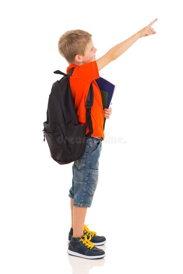 Apontar preliminar da estudante imagem de stock