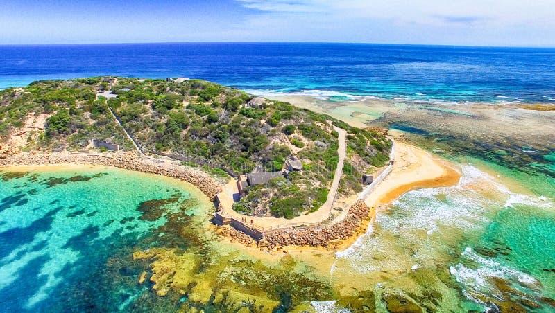 Aponte a opinião aérea de parque nacional de Nepean, Victoria - Austrália fotos de stock