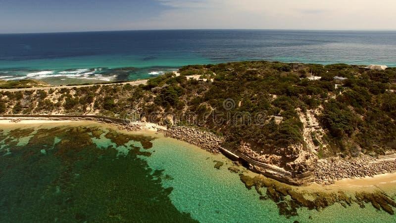 Aponte a opinião aérea de parque nacional de Nepean, Victoria - Austrália imagens de stock royalty free