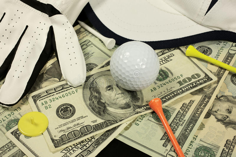 Aposta do golfe foto de stock