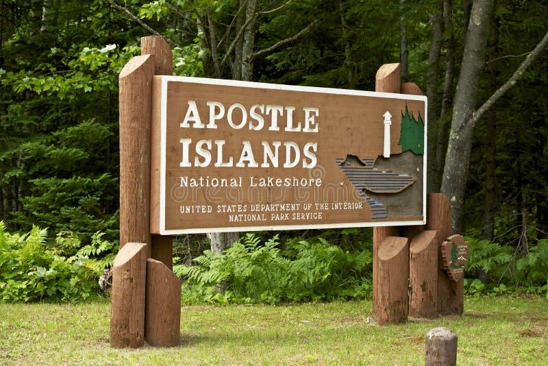 Apostel-Inseln stockbild