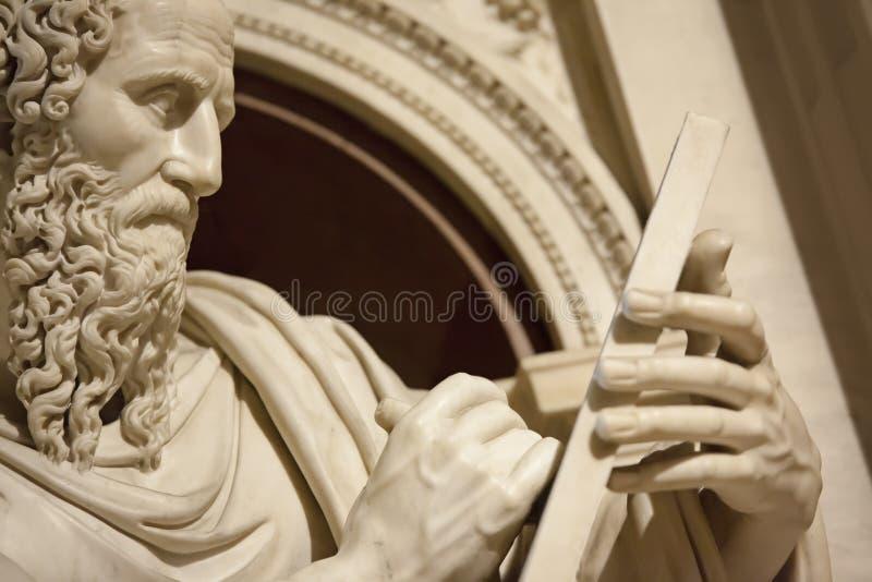 Apostel John in Loreto Italy stock foto's