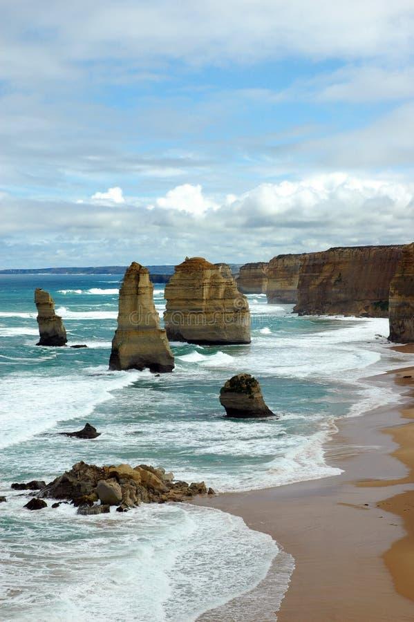 apostlar Australien tolv royaltyfri bild