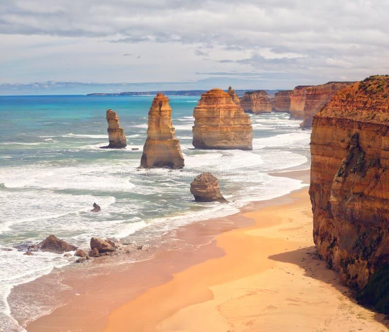 Apostlarna - Australien royaltyfri bild