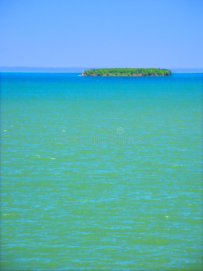 Apostle Islands - Wisconsin. View of Lake Superior from Apostle Islands National Lakeshore in northern Wisconsin royalty free stock photos